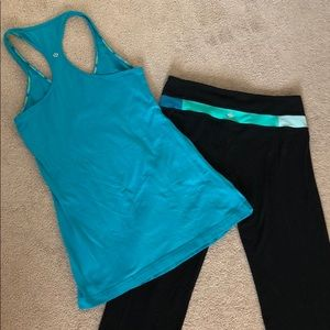 Lululemon pants and top set size 8